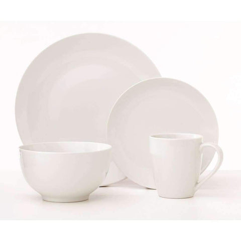 Dinnerware 16pc White Classic Oxford