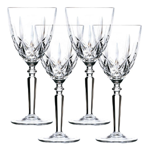 Set of 4 Orchestra Bohemia Crystal Goblets 295ml