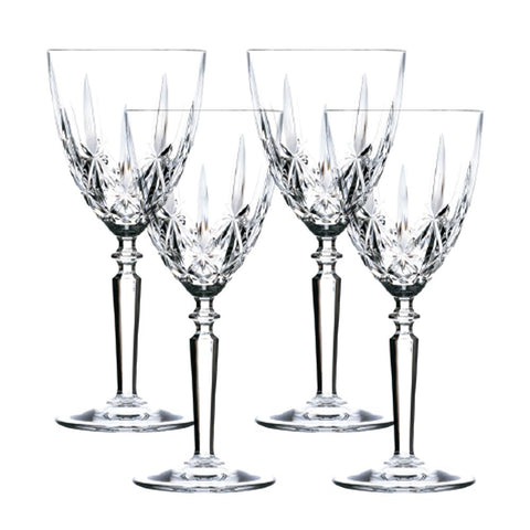 Set of 4 Orchestra Bohemia Crystal Wine Glasses 245ml