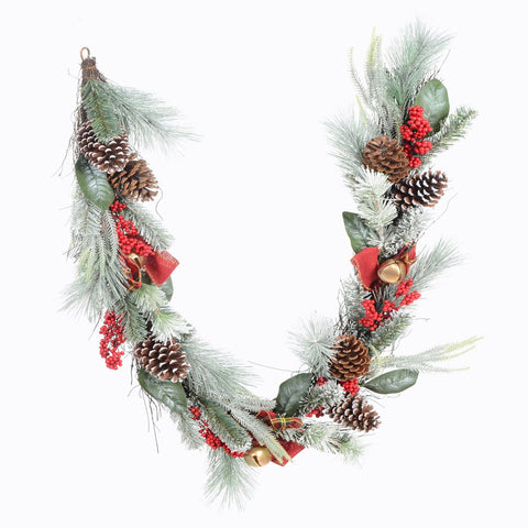 6' Decorated Mixed Pine/Berry Garland