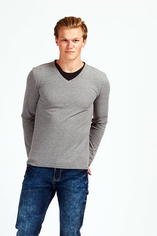 Men's T-Shirt L/S Neck Fooler/Asst/Asst