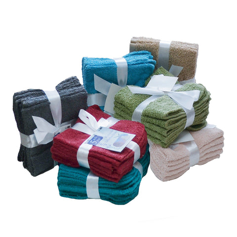 A Set of 5 Solid Colour Face Cloths