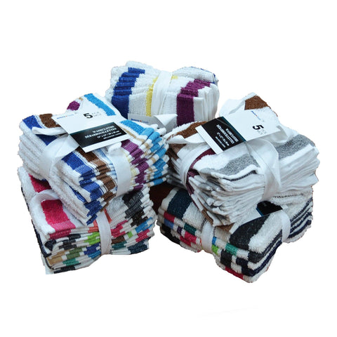 A Set of 5 Face Cloths