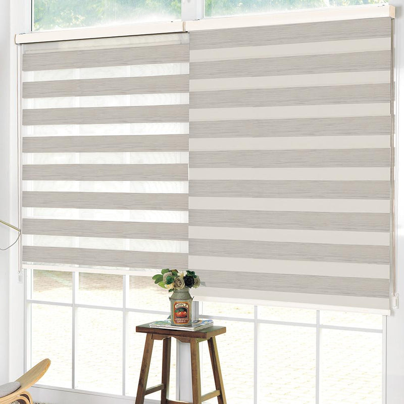 Wood Look Day & Night Roller Blind - Beige - Magasins Hart | Hart Stores