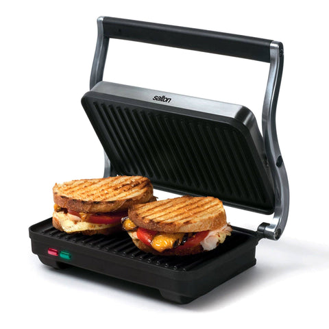Salton - Stainless Steel Panini Grill