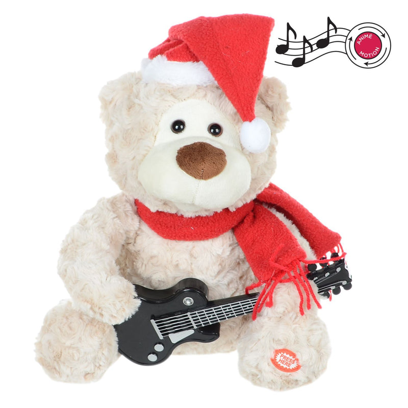 "11""H Animated Bear Playing Guitar - Magasins Hart 