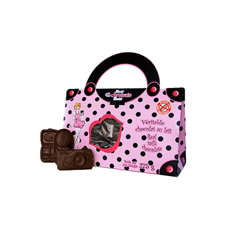 Polka Dot Purse with Chocolate Accessories