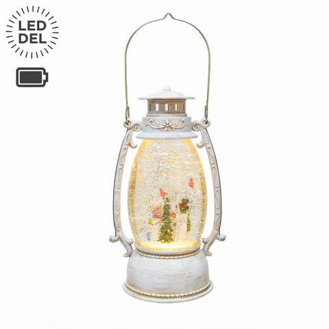 "9.25"" Led Lantern Water Filled B/O"