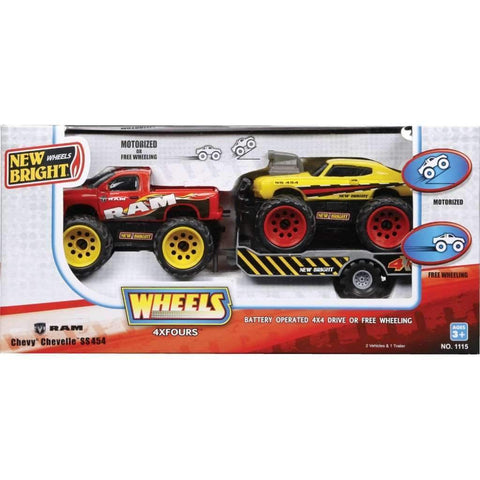 4x4 Muscle Car Twin Pack With Trailer