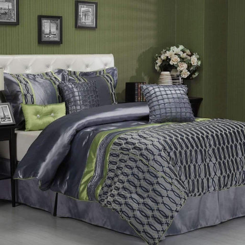 Sandra Venditti - Bourdon 7 Piece Comforter Set, Queen