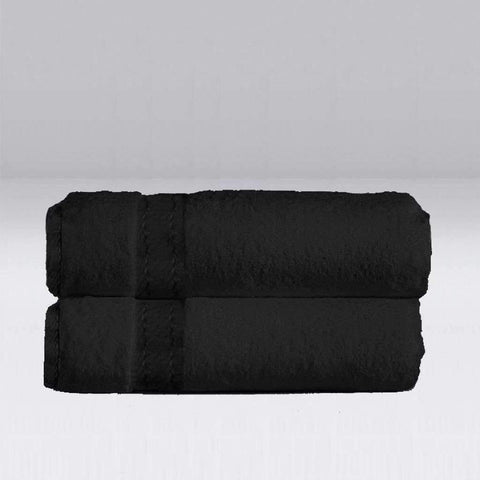 Bamboo Bath Sheet Black