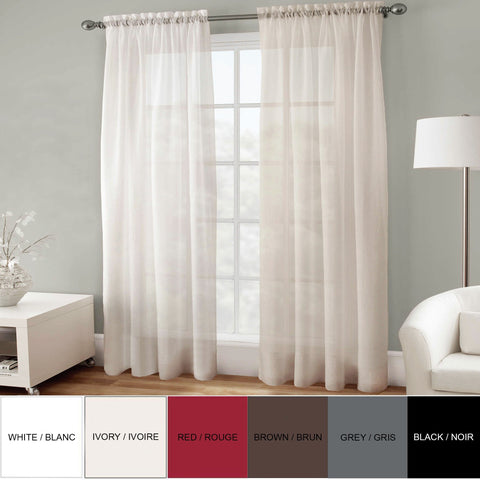 SANDRA VENDITTI - Basic Elegance - Rod Pocket Voile Panels - 6 Colours