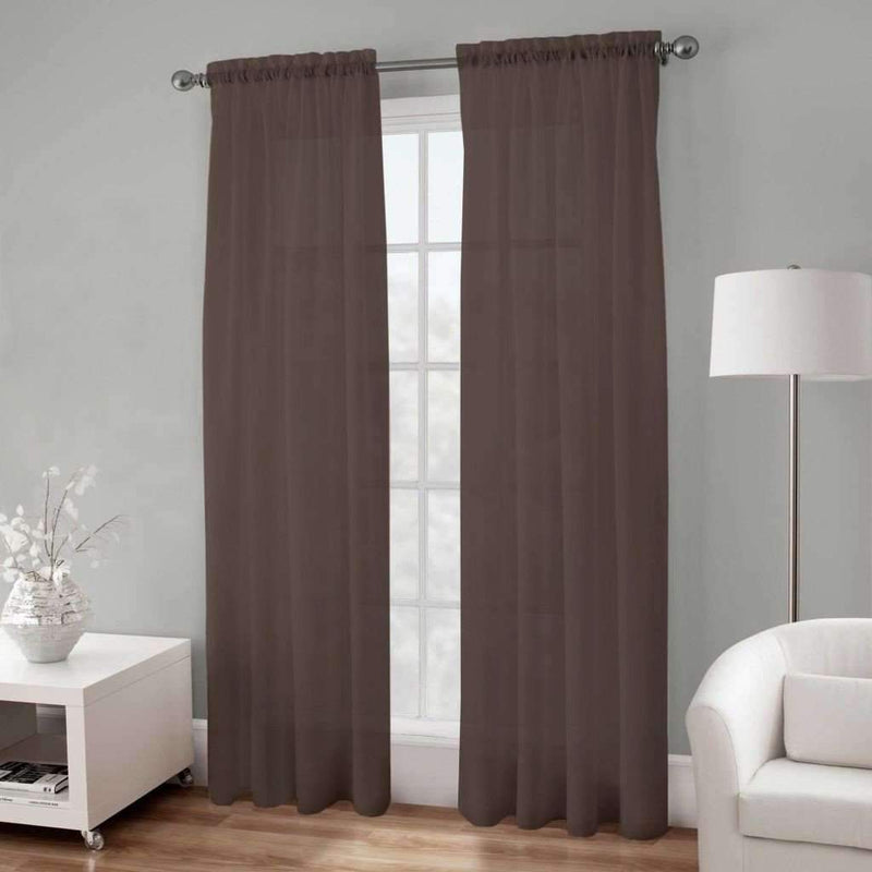 Basic Elegance - Rod Pocket Semi-Sheer Voile Panel | 54 x 96"
