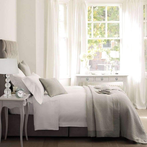 Blanc de Blanc - Ensemble de drap T1500 - Blanc Très Grand lit | Blanc De Blanc - T1500 Cotton Rich Sheet Set, White, King