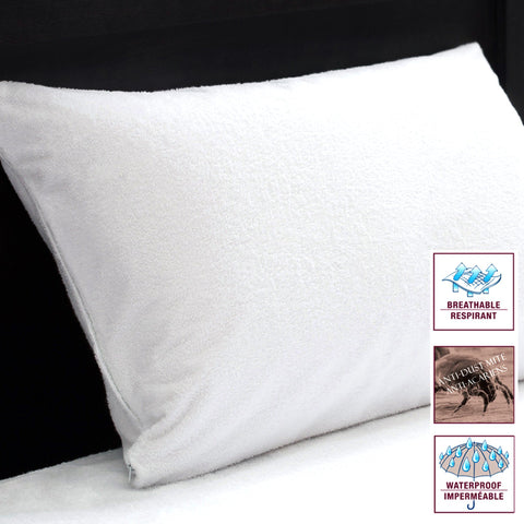 Studio 707 - Terry Waterproof Pillow Protectors, Set of 2