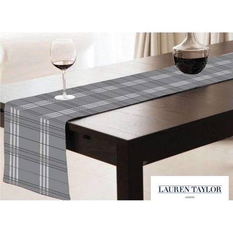 Table Runner Plaid Clyde Collection 13x72in