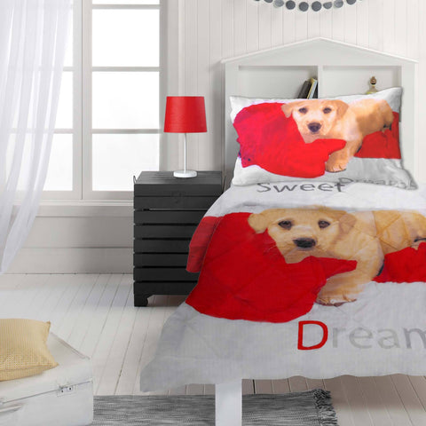 Puppy 2 Piece Kids Comforter Set