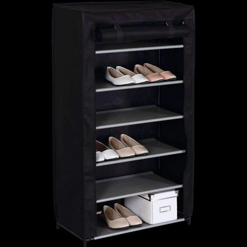 Studio 707 - Fabric Shoe Cabinet, Black