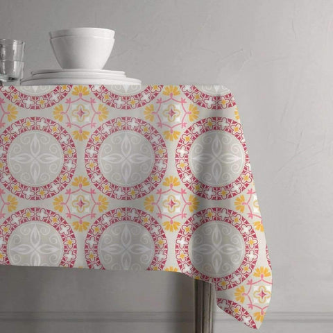 "Adrien Lewis - Madeira Plastic Tablecloth, 60"" Round"