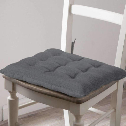 Lauren Taylor - Morris Two Toned Chair Pad, Grey