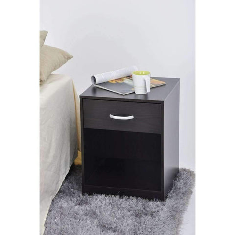 Studio 707 - Night Stand with Drawer & Storage, Espresso