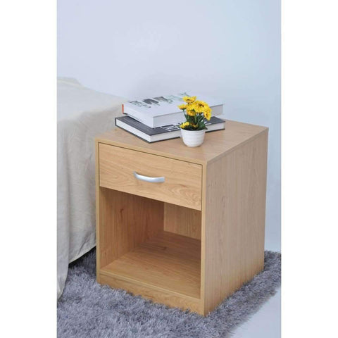 Studio 707 - Night Stand with Drawer & Storage, Natural
