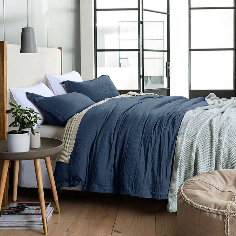Stone Washed Bamboo Feel 3 Piece Duvet Cover Set - Magasins Hart | Hart Stores