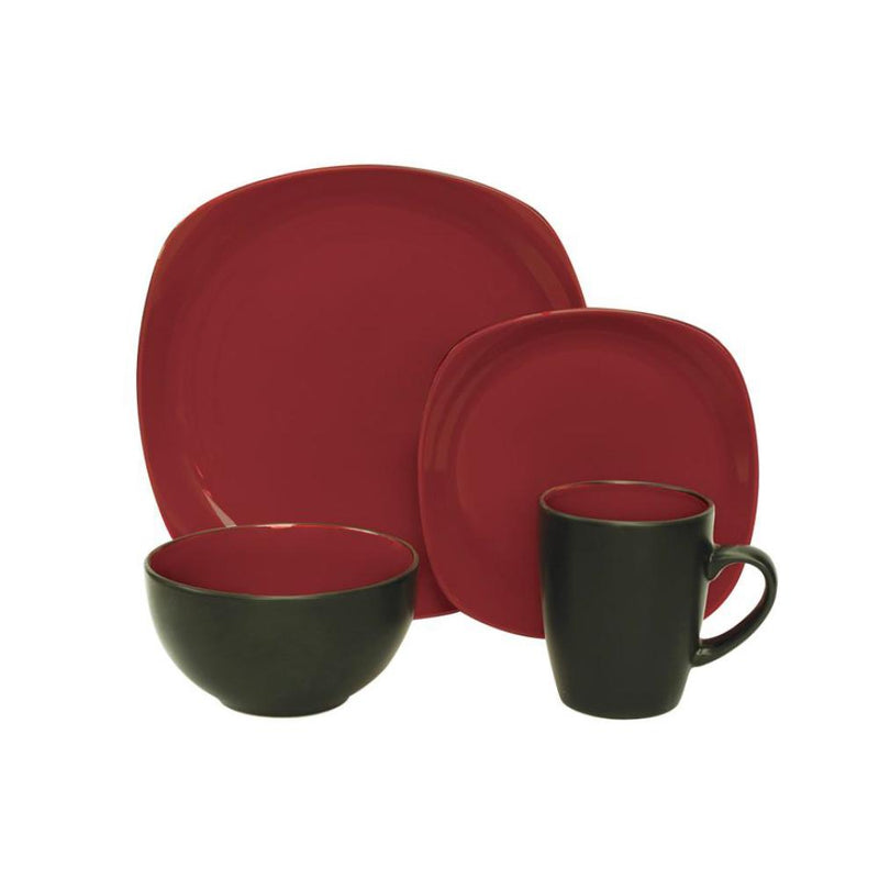 16 Piece Dinnerware Set - Red or Blue - Magasins Hart | Hart Stores