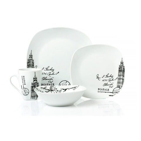 Adrien Lewis - London 16 Piece Porcelain Dinnerware Set