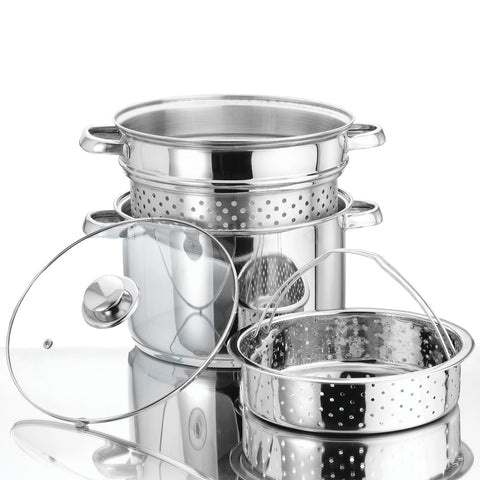 À la Cuisine - 4 Piece Stainless Steel Steamer Set