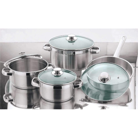 8pc Stainless Cookware Set