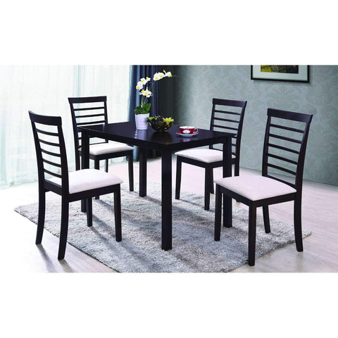 5 pieces Dining Set with Solid Wood Chairs