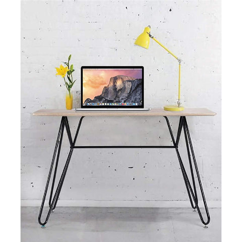 Computer Table with Metal Legs 120X60X76CM LT WOOD