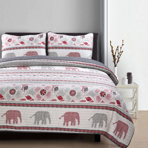 Lauren Taylor - Elephant 3 Piece Quilt Set