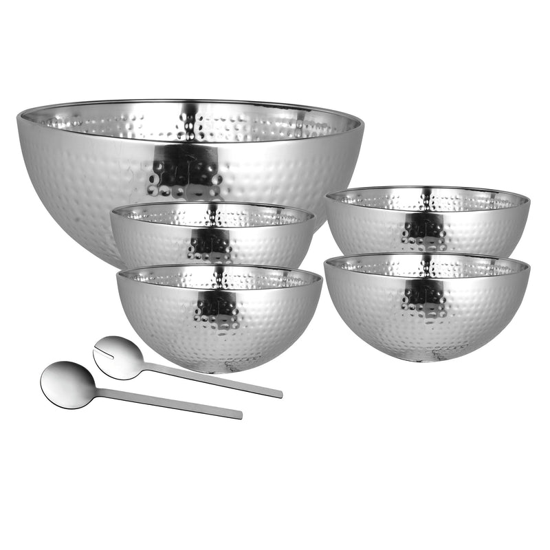 À la Cuisine - 7 Piece Hammered Salad Serving Set - Magasins Hart | Hart Stores