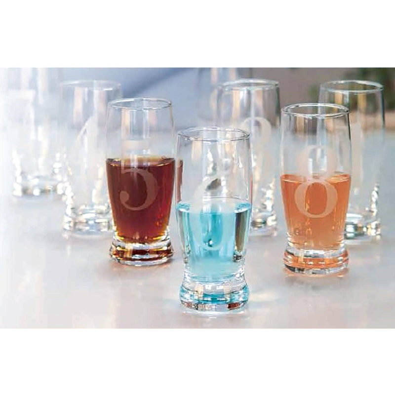 Sandra Venditti - Numbered Shot Glasses, Set of 8 - Magasins Hart | Hart Stores