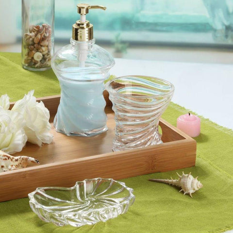 Glass Bathroom Accessories Set 3 Pieces