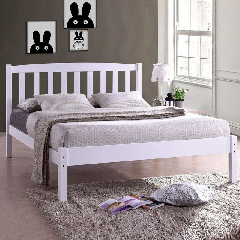 Candywood - Platform Bed | White or Brown - Magasins Hart | Hart Stores