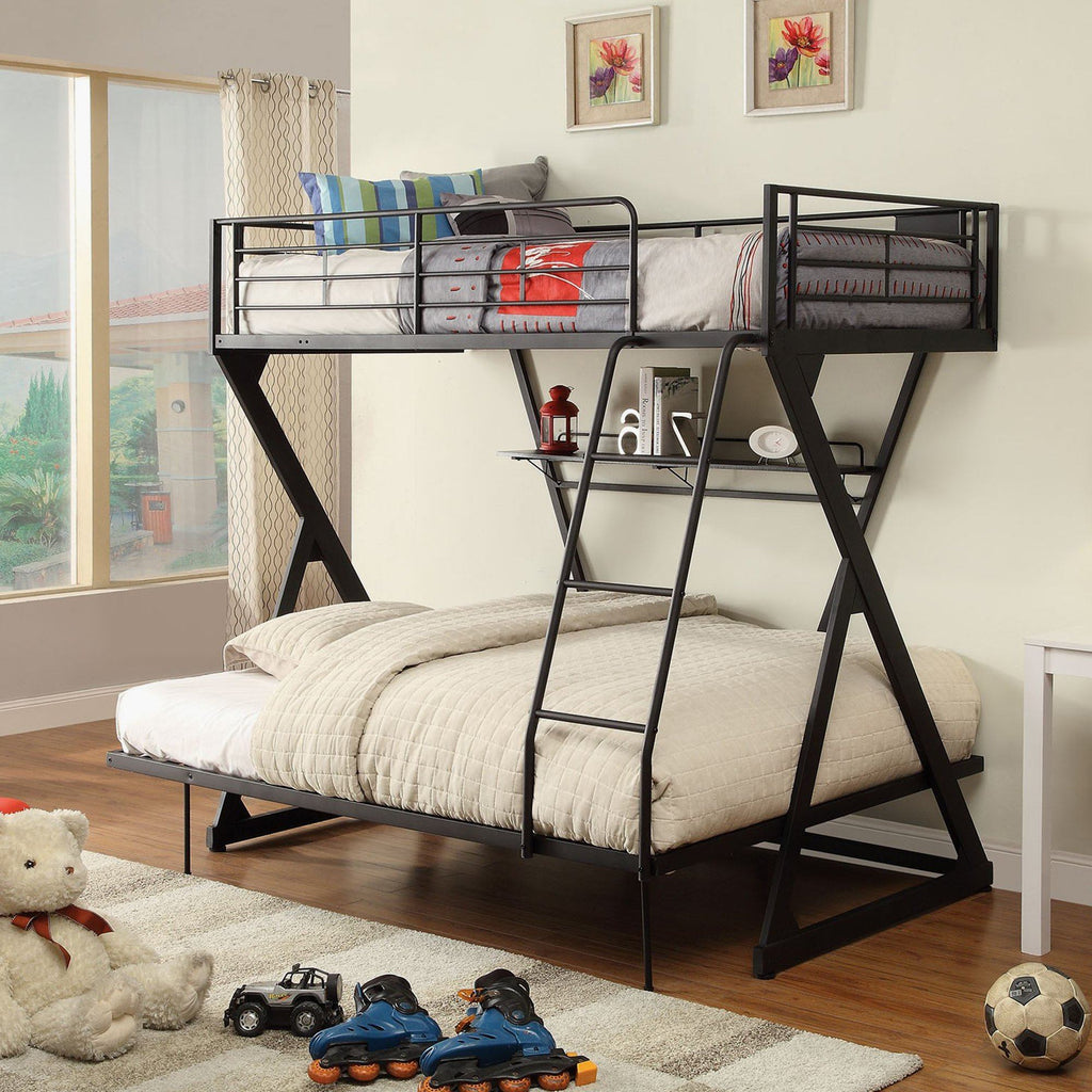 Zazie Metal Bunk Bed Frame Twin Full Magasins Hart Hart Stores