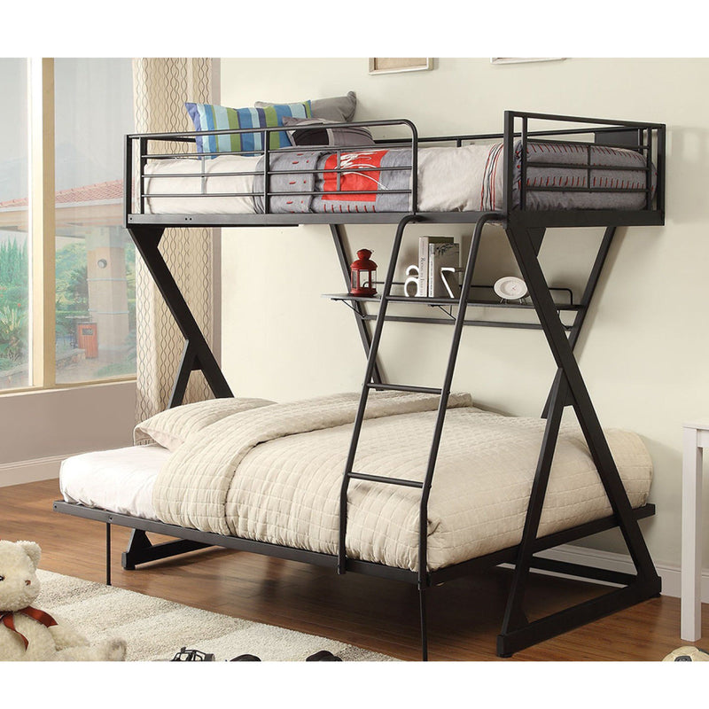 Maison Condelle - Zazie - Metal Bunk Bed and Shelf - Magasins Hart | Hart Stores