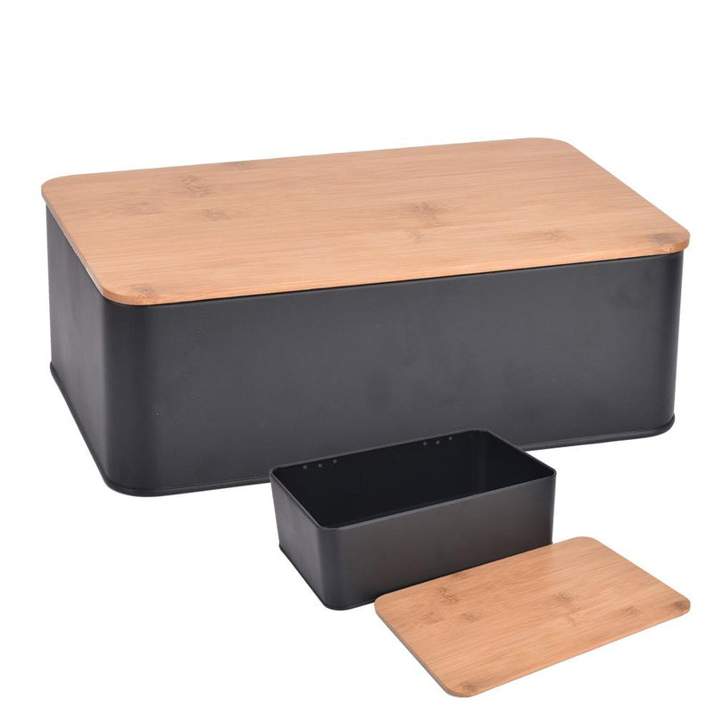 Bread bin with bamboo cover - Magasins Hart | Hart Stores