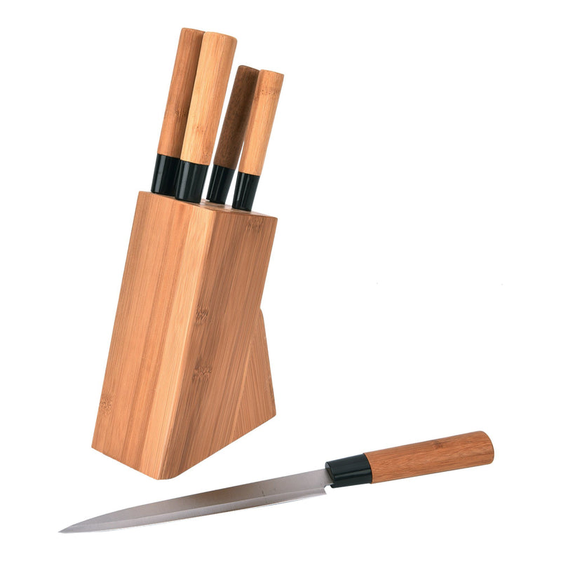 À la Cuisine - 5 Piece Bamboo Knife Set with Block - Magasins Hart | Hart Stores