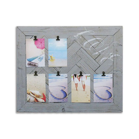 Décoration murale avec attaches photos Love | Love Wooden Clipboard Frame