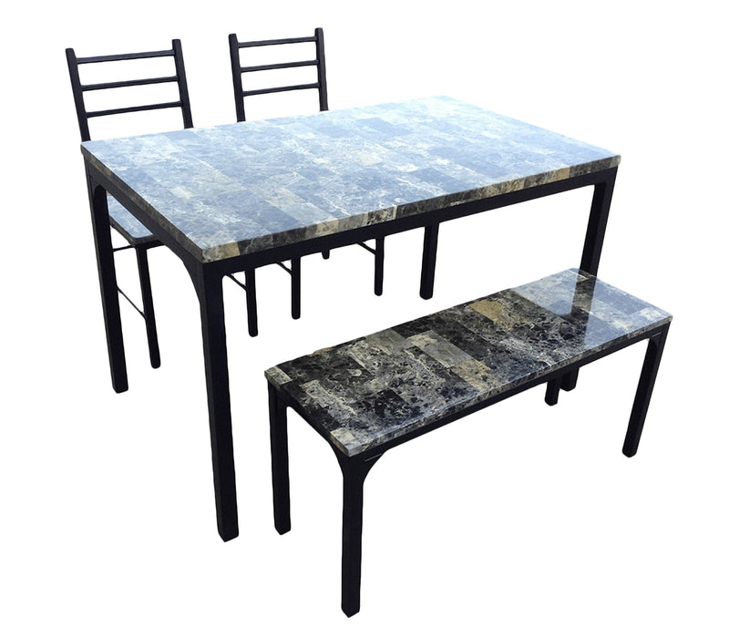 Dining Set 4-Pc Marble Top - Magasins Hart | Hart Stores