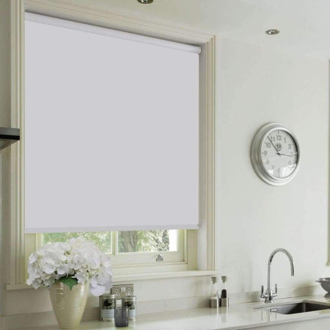Cordless Blackout Blind - Roller Blind - White