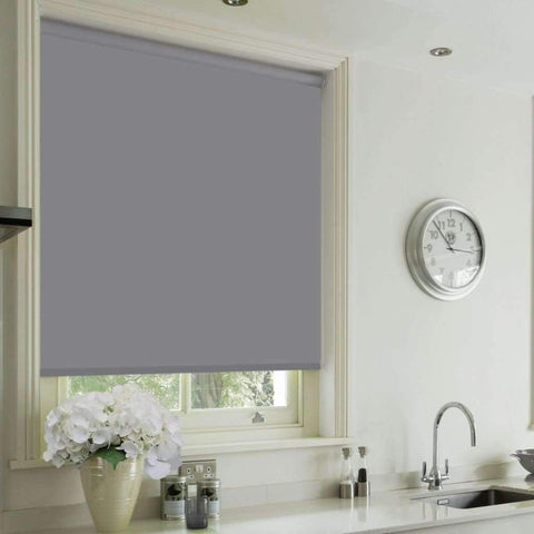 Cordless Blackout Roller Blind - Grey