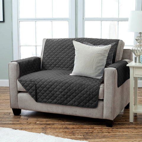 Lauren Taylor - Diamond Quilted Loveseat Slipcover