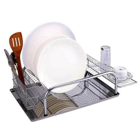 Sandra Venditti - Chrome Dish Rack, 23.2x5.68""
