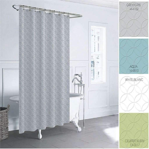 Lt Bloom Shower Curtain Celery 70x72 Microfiber