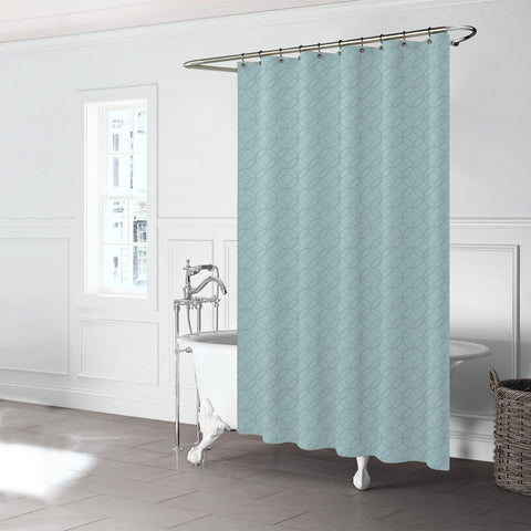 Rideau de douche Bloom - Aqua | Bloom Shower Curtain - Aqua